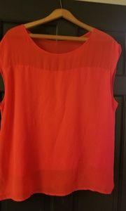DKNYC tangerine top XL